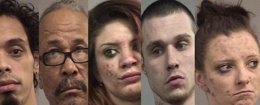 Source: Louisville Metro Corrections (left to right: Michael Miller, Reginald Carter, Amber Howell, Charles Everett, Samantha Plummer)