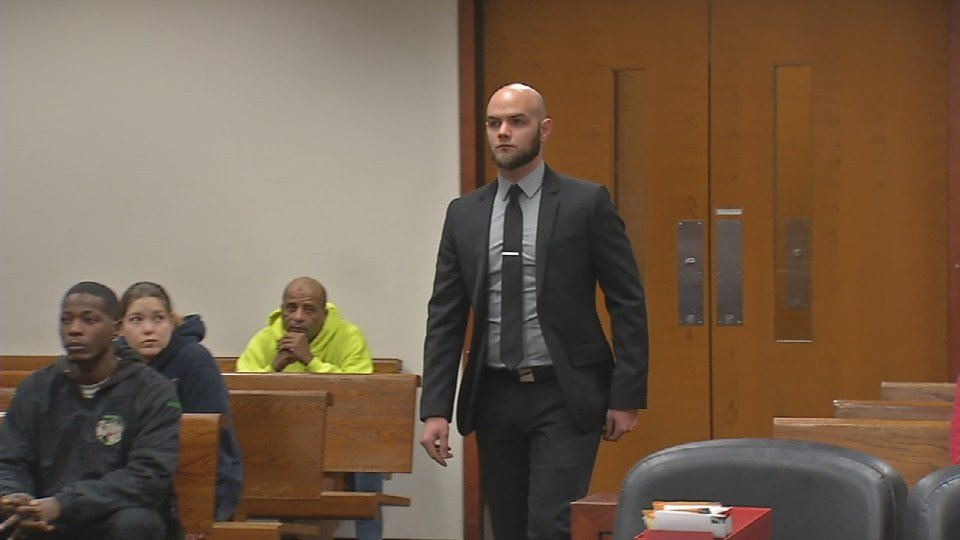 Samuel Barrett at a court appearance on Feb. 23, 2016.