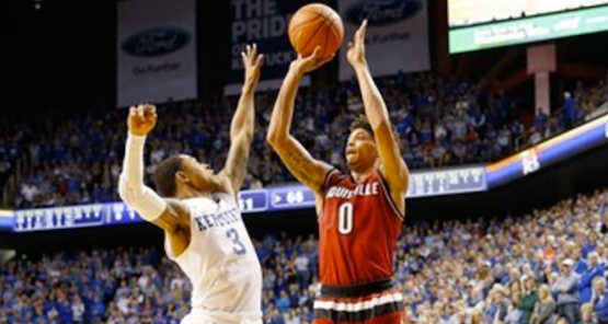 Louisville's Damion Lee and Tyler Ulis of Kentucky are contending for national recognition. (Photo by Jeff Reinking, GoCards.com.)