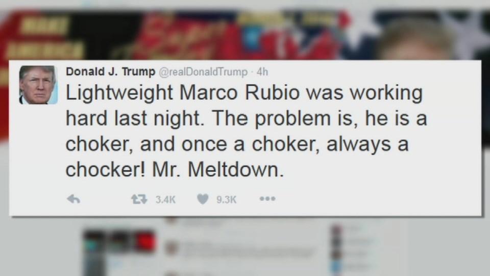 Donald Trump's misspelled tweet