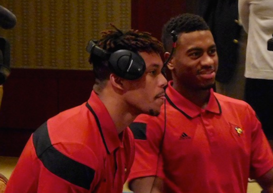 Damion Lee (left) and Trey Lewis have been model leaders for this U of L basketball team.