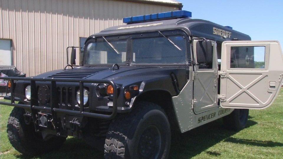 Spencer County sheriff says military vehicles are ...