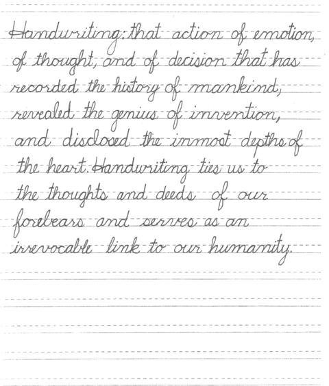 Worksheets Cursive Handwriting a second graders internationally recognized cursive handwriting handwriting