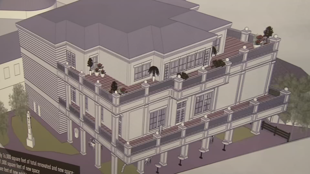 Renderings show the future look of the Kentucky Derby Museum.