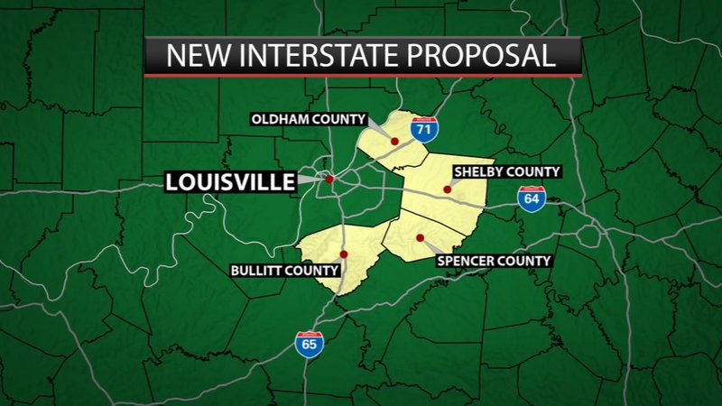 Proposed 50-mile interstate would provide new way around Louisville Video  included