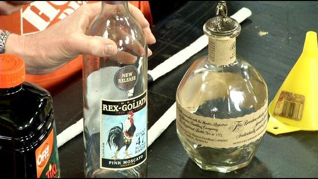 Making Bourbon Bottle Tiki Torches with The Home Depot Guys - WDRB ...