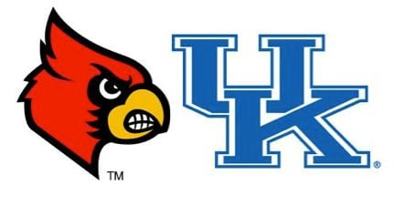 Image of Louisville vs. Kentucky in college basketball.