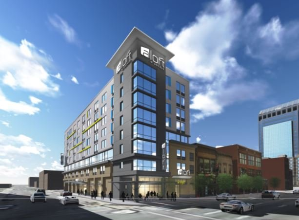 aloft boutique hotel to be built in downtown louisville