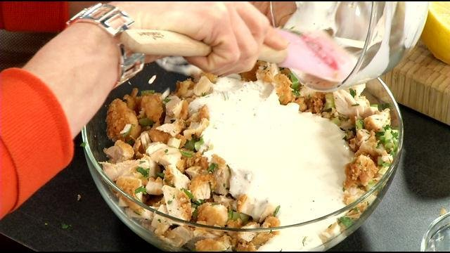 Food network star shares fried chicken salad recipe wdrb 41 food network star shares fried chicken salad recipe forumfinder Image collections