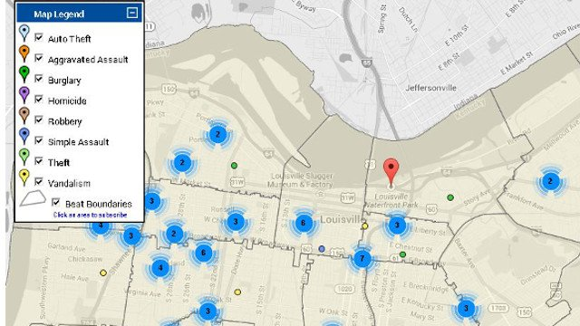 Louisville Crime Maps Corrected To Display Park Incidents