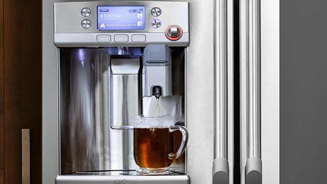 Ge Refrigerator With Keurig Coffee Maker Lowe S : Keurig coffee system built into new GE refrigerator made at Loui - WDRB 41 Louisville News