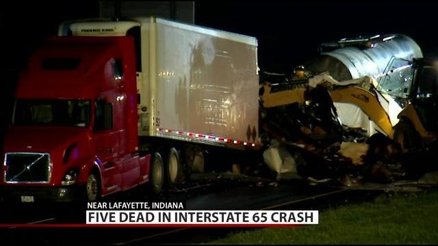 City Of Lafayette >> Five killed in I-65 crash near Lafayette, Indiana - WDRB ...