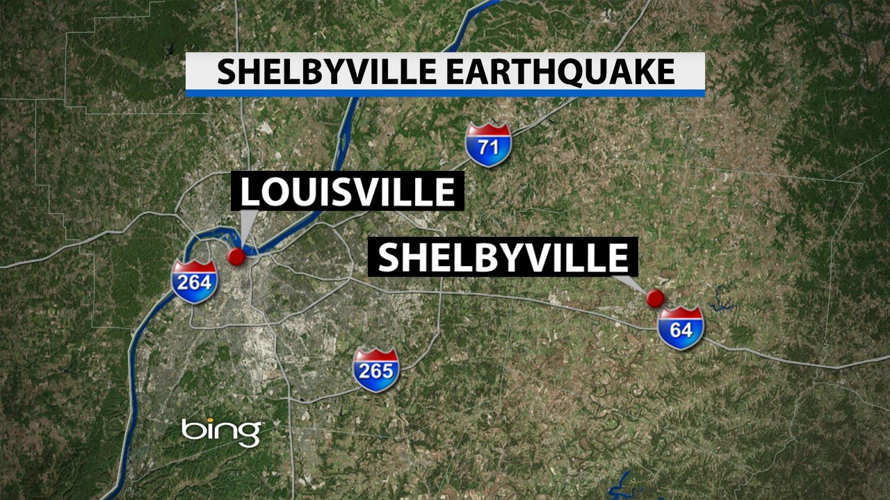 Earthquake measuring 26 shakes Shelbyville WDRB