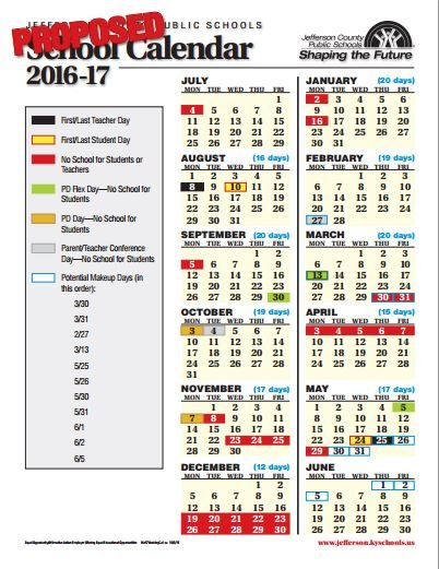 JCPS school board approves 2016-17 calendar - WDRB 41 Louisville News