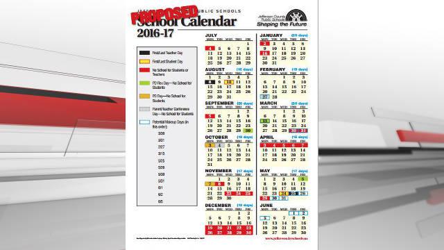 School Calendar 2016 17 : Jcps school board approves calendar wdrb