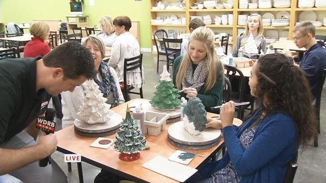 make unique ceramic gifts for the holidays at the paint