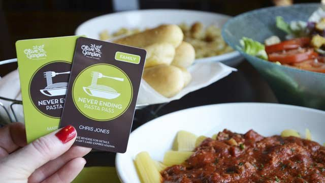 ap olive garden customers who cant get enough pasta have a chance to enjoy unlimited servings for a year - Olive Garden Louisville